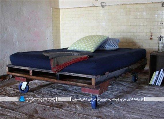 تخت خواب ساده با قابلیت جابجایی