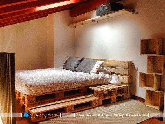 تخت و سرویس خواب های ساخته شده با تخته و پالت چوبی | نوبرانهسرویس خواب ارزان قیمت