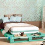 تخت و سرویس خواب های ساخته شده با تخته و پالت چوبی
