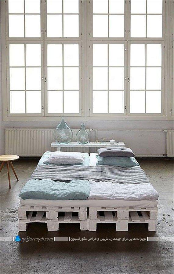 سرویس خواب و تخت خواب دو نفره ساده و زیبا