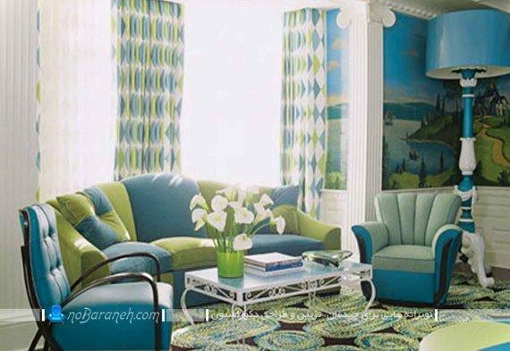 طراحی دکوراسیون سبز آبی