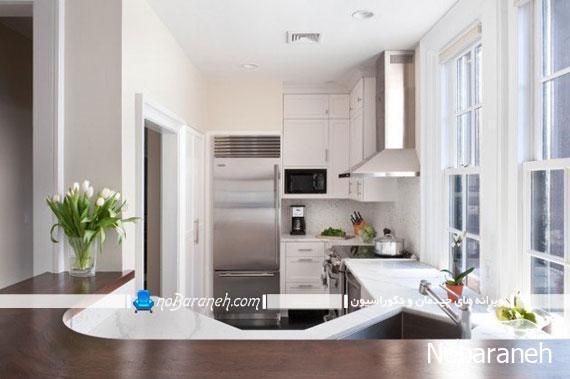 آشپزخانه های کوچک با چیدمان و طراحی دکوراسیون زیبا