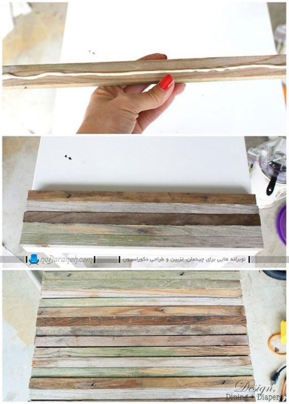 روکش کردن میز چوبی رنگ و رو رفته