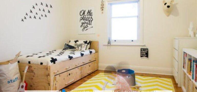 طراحی دکوراسیون مینیمالیستی و زیبا در اتاق کودک پسر