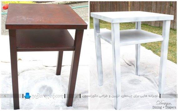 بازسازی میز چوبی قدیمی