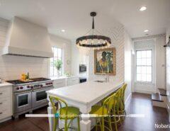 طراحی دکوراسیون آشپزخانه قدیمی با رنگ سفید