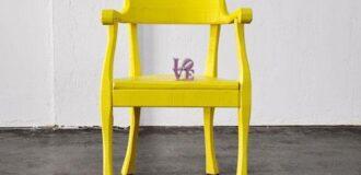 صندلی تک نفره زرد