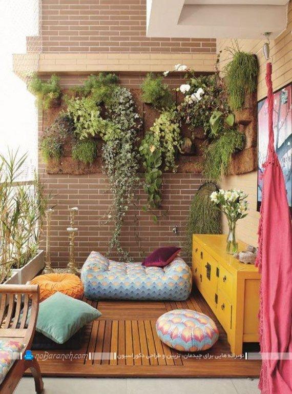 گلدان و باغچه های دیواری بالکن