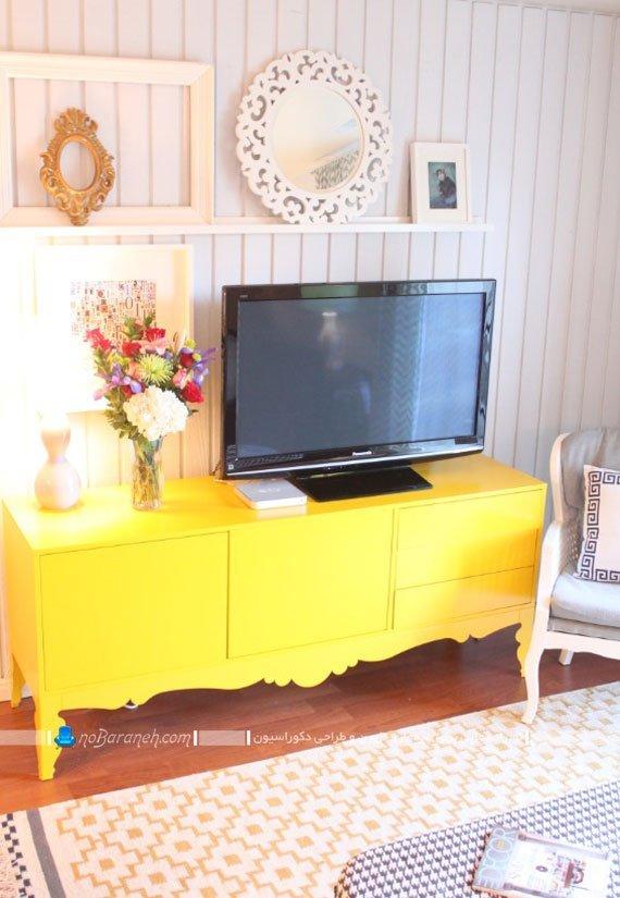 چیدمان مبلمان های زرد رنگ در خانه