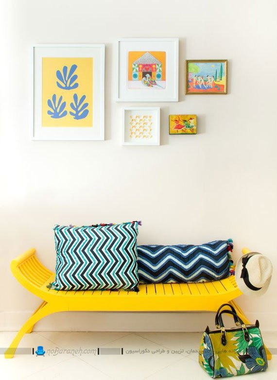 طراحی دکوراسیون خانه با زرد