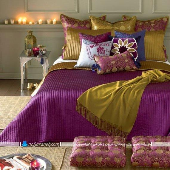 روتختی ترکیبی با رنگ های بنفش و طلایی