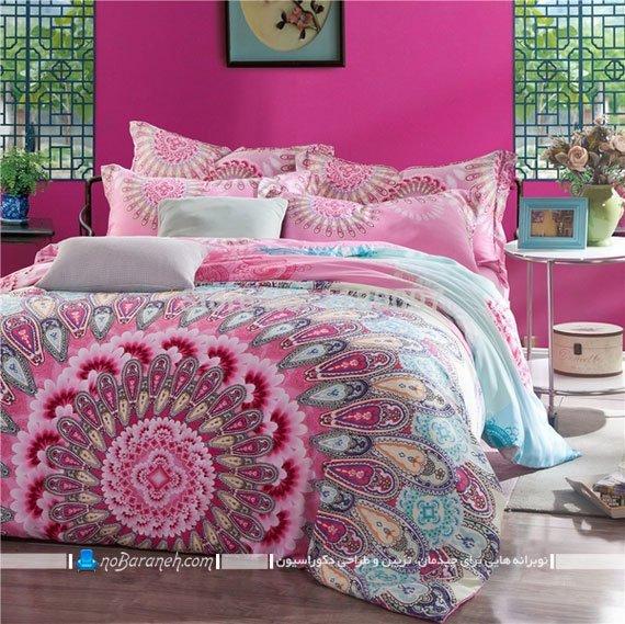 تزئین اتاق خواب با روتختی طرح دار