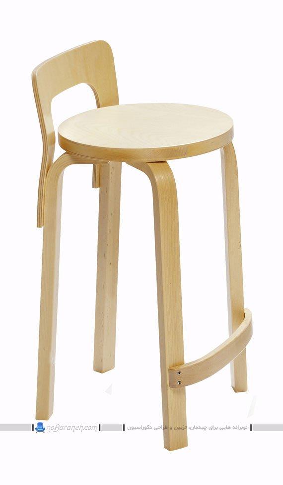 صندلی ناهارخوری و اپن چوبی