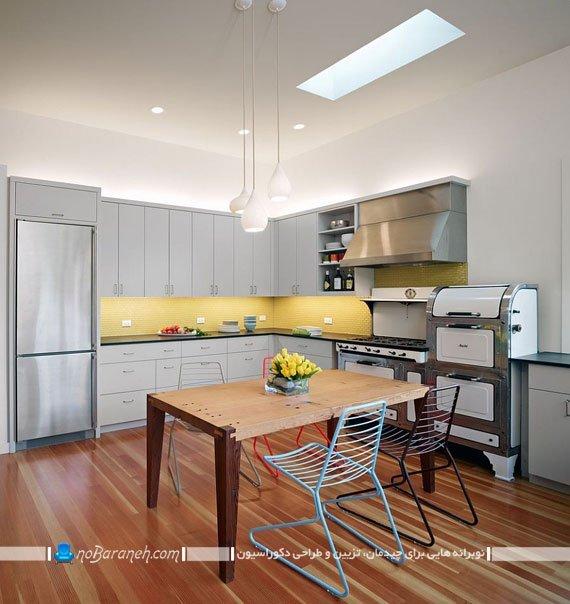 تزئین آشپزخانه با رنگ زرد