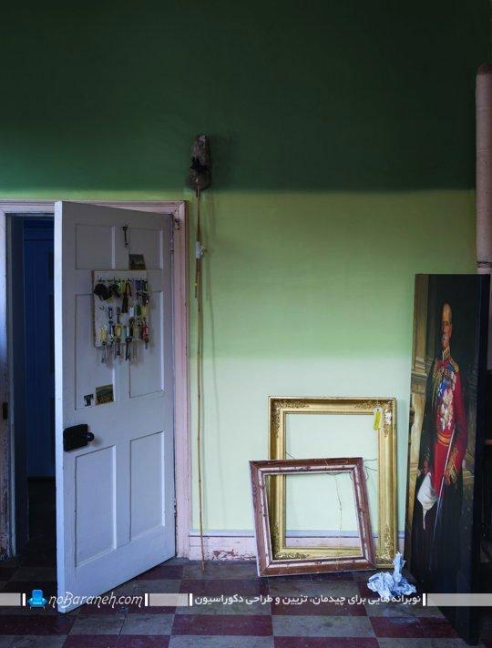 نقاشی دیوارها با رنگ سبز