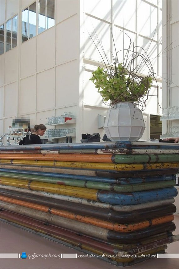 میز لوله ای و فلزی ساخته شده برای کافی شاپ