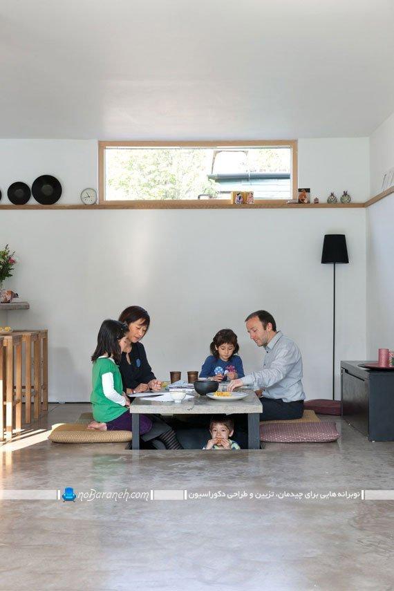 میز و صندلی ناهارخوری کمجا با طرح های تو کار و متحرک نوبرانه