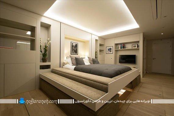 اتاق پذیرایی و اتاق خواب یکجا