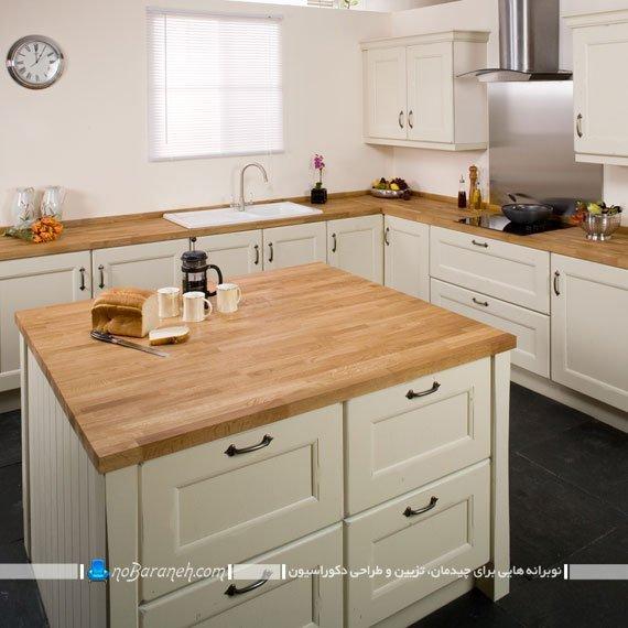 رنگ کرم را برای کابینت آشپزخانه انتخاب کنیم یا نه ؟ | نوبرانه... کابینت های کلاسیک کرم رنگ با طرح چوب