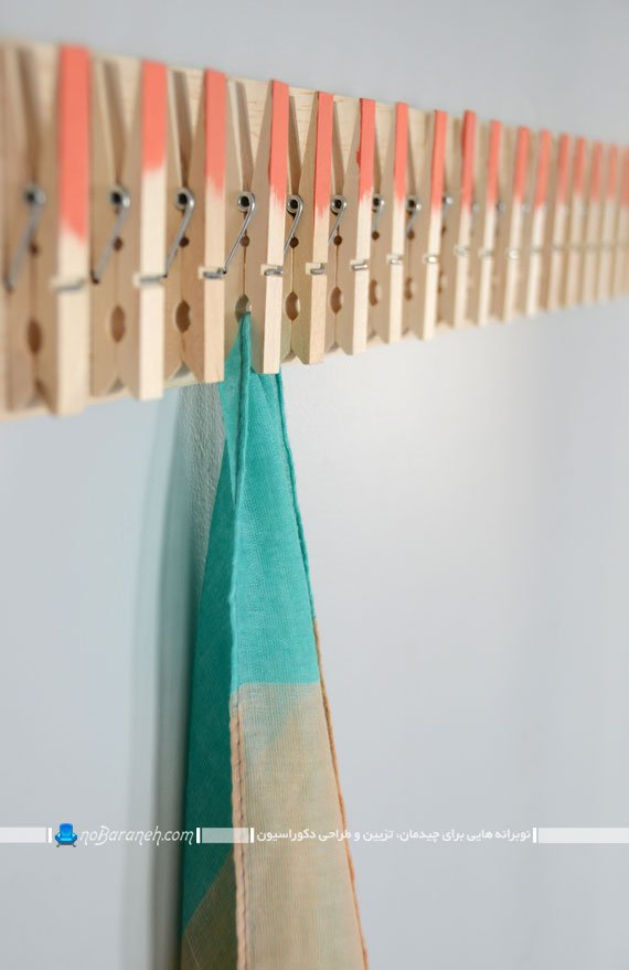 آموزش ساخت رخت آویز چوبی برای شال گردن و روسری