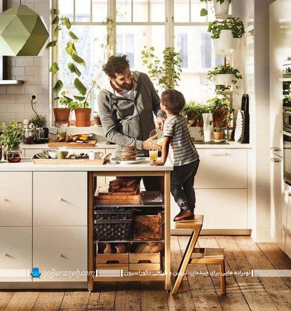 آشپزخانه تزیین شده با گیاهان ikea