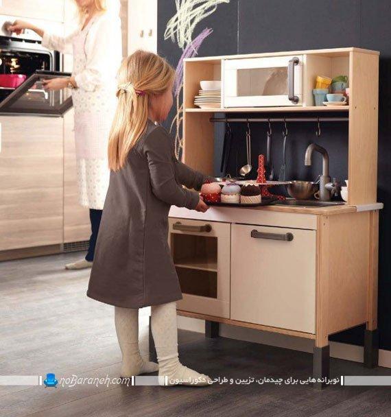 آشپزخانه کوچک برای دختر کوچولوها