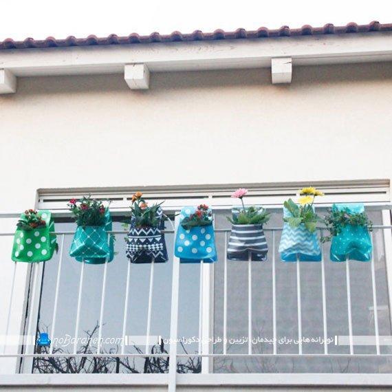تزیین بالکن با گل و گیاهان