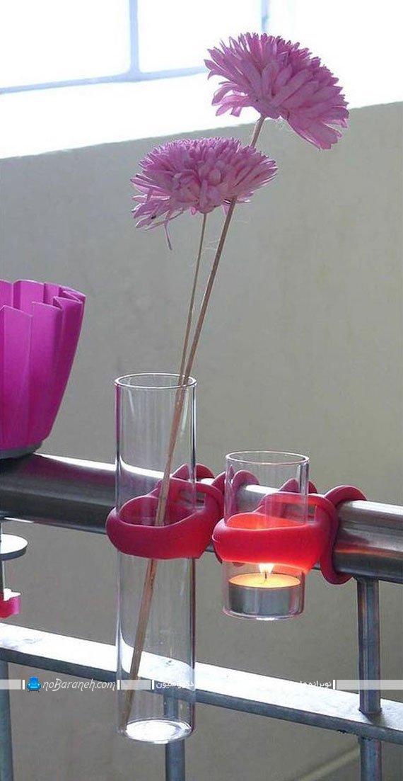 تزیین بالکن و تراس با شمعدانی شیشه ای