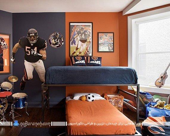 تزیین دیوار اتاق خواب نوجوان