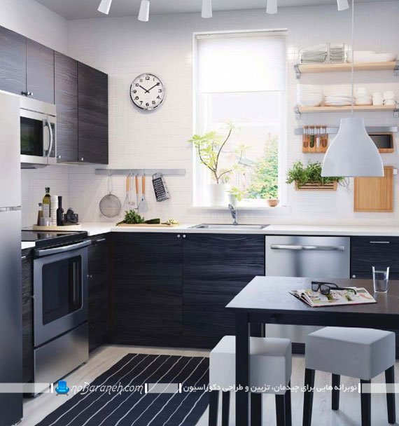آشپزخانه سیاه و سفید ایکیا