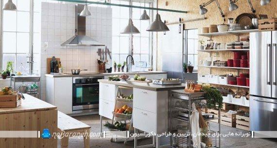 دکوراسیون زیبا در آشپزخانه با ایکیا ikea