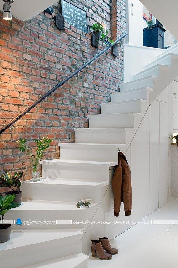 تزیین دیوار راه پله داخلی