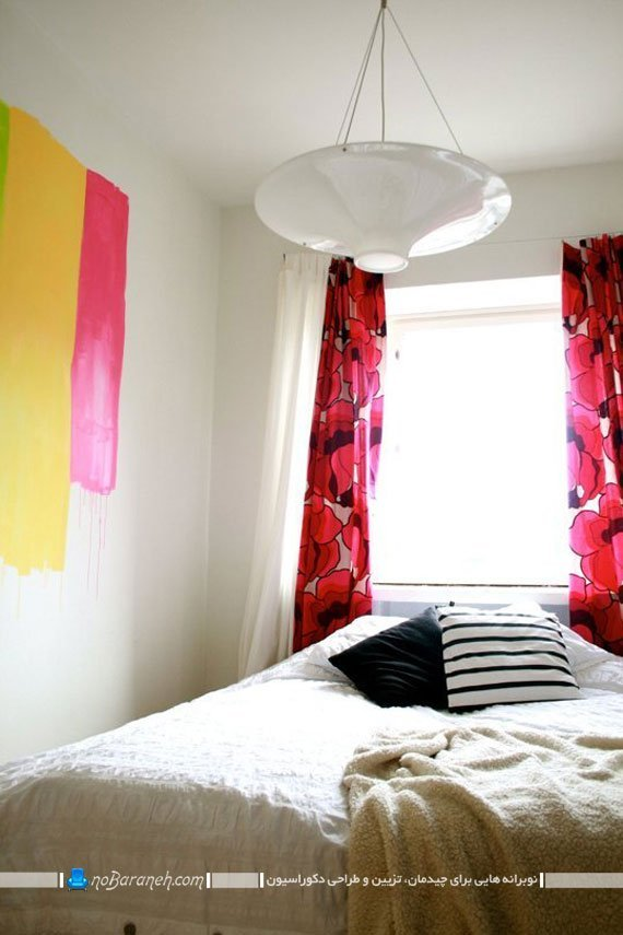 تزئین اتاق خواب با رنگ های گرم
