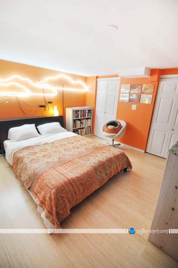 نورپردازی دیوارهای اتاق خواب