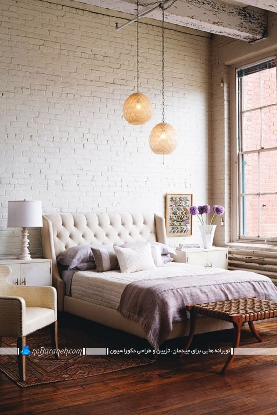 دیوار پوش آجری سفید