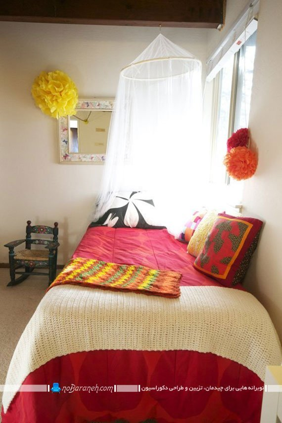تزیین اتاق خواب با رنگهای شاد