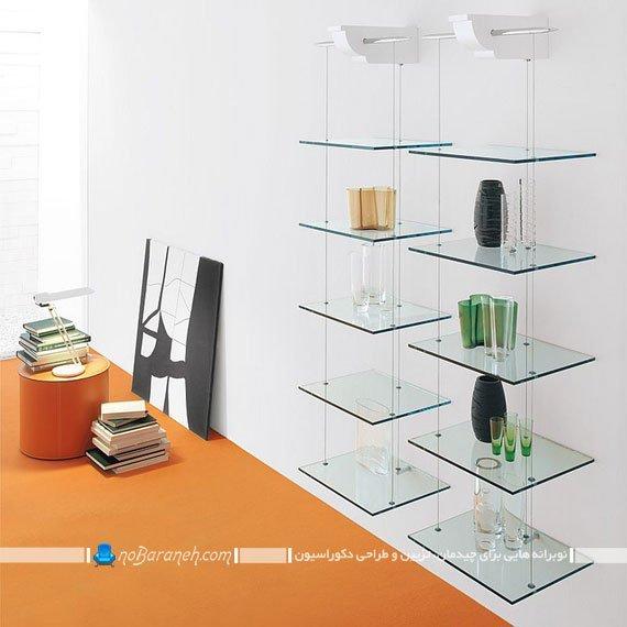 شلف دکوری و شیشه ای