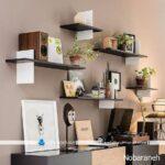 شلف و قفسه های شیشه ای و چوبی با طراحی شیک و مدرن