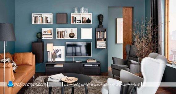 طراحی دکوراسیون اتاق نشیمن ایکیا 2016