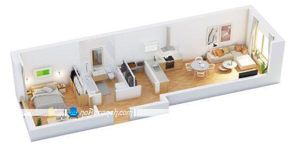طراحی دکوراسیون خانه کوچک