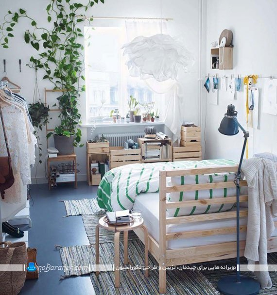 فضا سازی در اتاق خواب با پالت چوبی