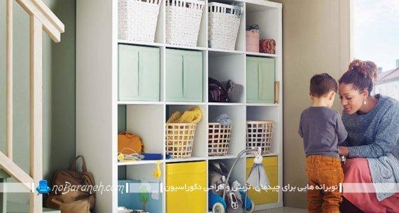 قفسه بندی چوبی چهار در چهار