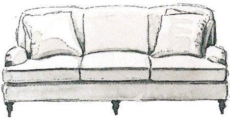 کاناپه راحتی انگلیسی سه تکه English three-seater