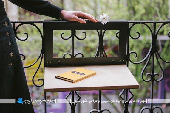 میز تاشو چوبی برای تراس