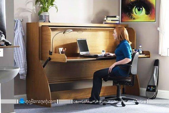 میز تحریر و کامپیوتر کمجا