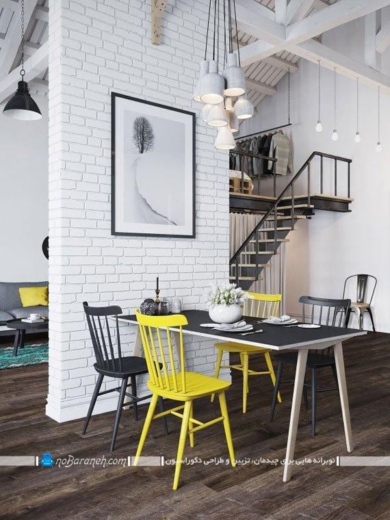 تزیین ستون های خانه با دیوارپوش آجری