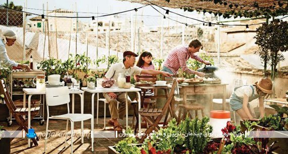 اتاق ناهارخوری در فضای باز
