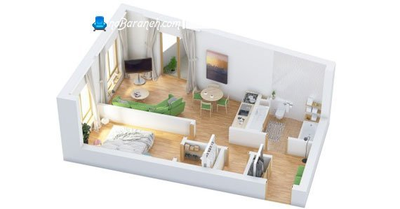 پلان معماری و چیدمان خانه