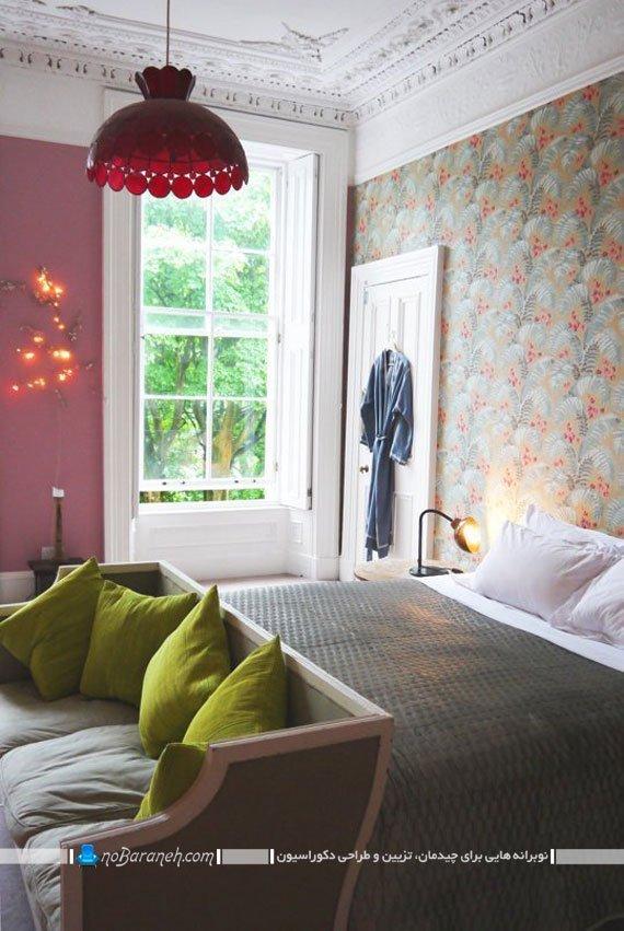 رنگ آمیزی و طراحی متنوع دیوار اتاق