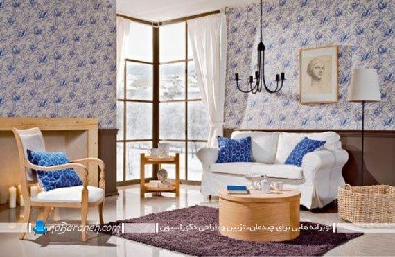 دیزاین اتاق نشیمن با ایجاد کنتراست